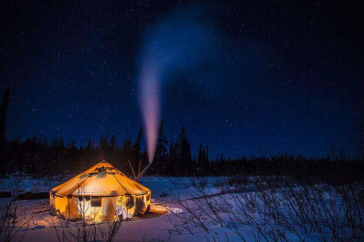A Serene night Winter Camping in Northern Ontario #DiscoverOntario