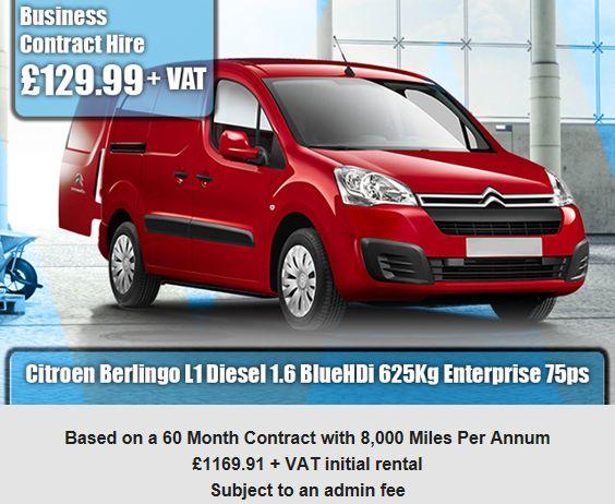 Citroen Berlingo L1 Diesel 1.6 BlueHDi 625Kg Enterprise 75ps