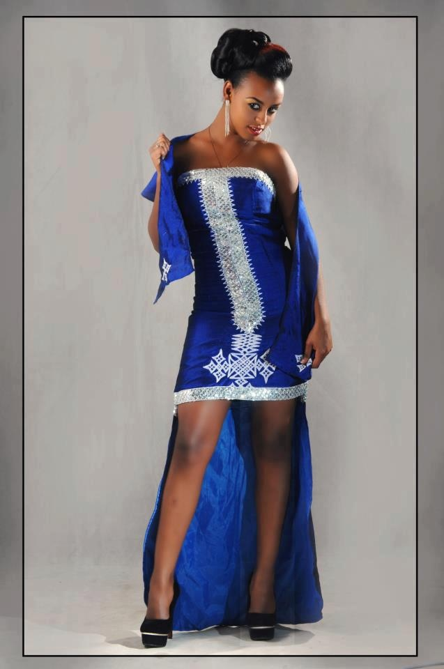 Habesha Dress In Royal Blue ☆habesha☆ Eritrean