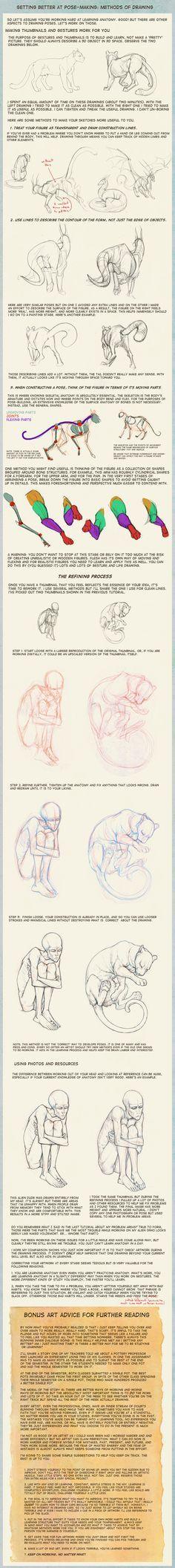 Poses: methods of drawing by hibbary.deviantart.com on @deviantART