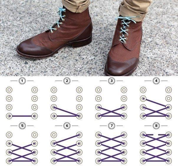 Как необычно завязать шнурки 0