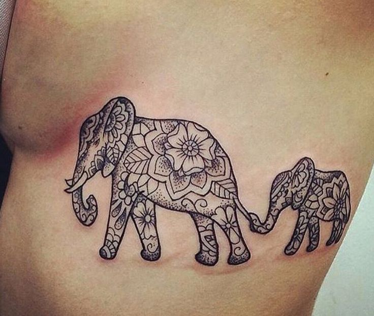 Cute elephant tattoos on the side above the ribcage ink - Cute elephant tattoos tumblr ...