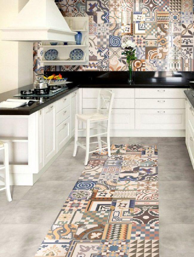 Patchwork Pattern Kitchen porcelain tiles