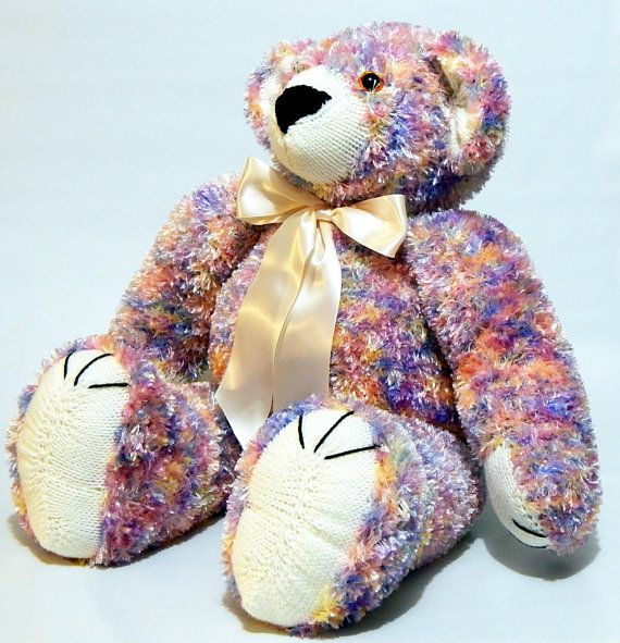 BABY'S FIRST BEAR Large hand knitted cuddly by MadeWithAltitude