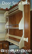Spice Rack Door Mounted Solid Maple Wood Kitchen Storage Cabinet Organizer - NEW