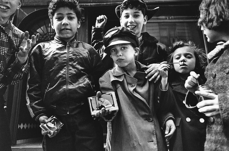 William Klein, Italian pre-teen club present base-ball player card collection, New York, 1954-55.