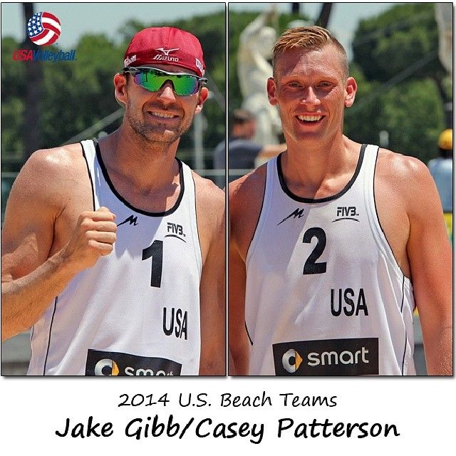 Beach volleyball partners for 2014: Jake Gibb and Casey Patterson