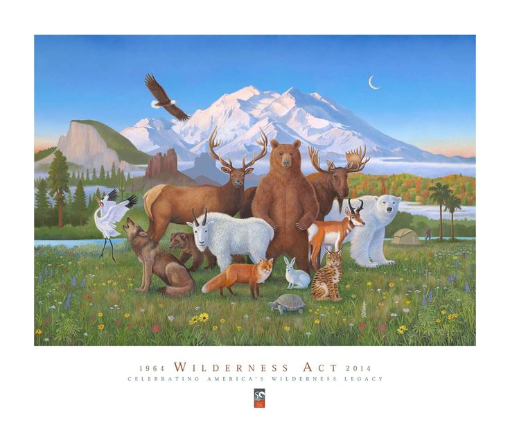 "Monte Dolack, ""A Peaceable Kingdom of Wilderness"" 2014"