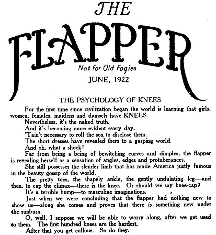 The Flapper - Not For Old Fogies :)