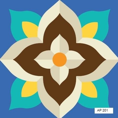 Tecido adesivo - Azulejo português AP201