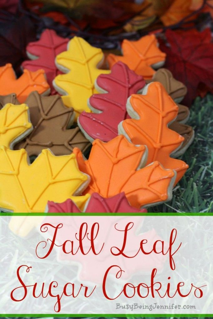Fall leaves sugar cookies - busybeingjennifer.com
