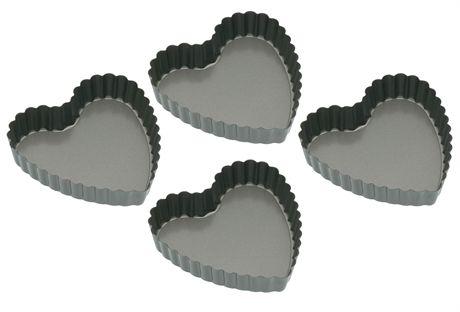Hjärtformade miniformar 4-pack, Kitchen Craft