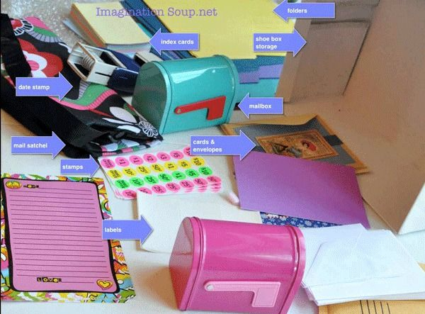 pretend play post office at home - make your own play  kit