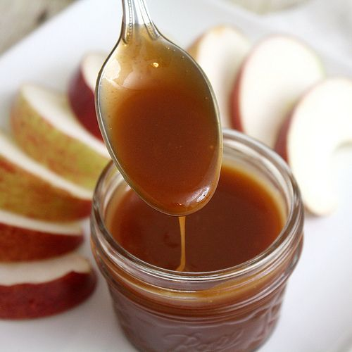 homemade caramel sauce made in the microwave