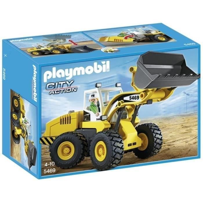 PLAYMOBIL 5469 Chargeuse avec godet - Achat / Vente UNIVERS MINIATURE PLAYMOBIL 5469 - Cdiscount Soldes