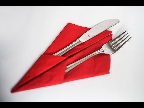 How to fold a napkin, Napkins, Folding napkins, Сервировка, Складывание салфеток, Servietten falten - YouTube