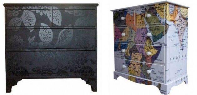 Aprenda a fazer artesanatos reciclagem decora o for Papel para forrar armarios