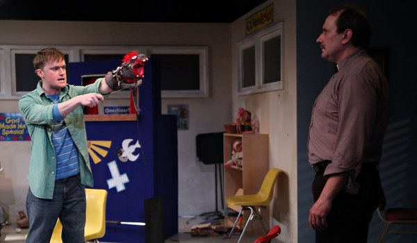 'Hand to God,' by Robert Askins, at Ensemble Studio Theater - what a unique play!  Funny and sad in oh, so many ways.  Stephen Boyer does an amazing job playing two roles - human and puppet.  Hard to explain but well worth watching.