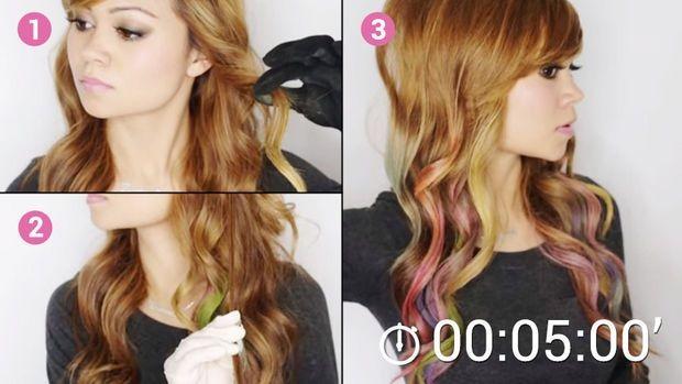 Vous N Avez Pas Envie De Realiser Une Coloration De Cheveux Permanente Et Au Meme Temps Vous Voulez Avoir Des Meches Colorees Pensez V Hair Styles Hair Beauty