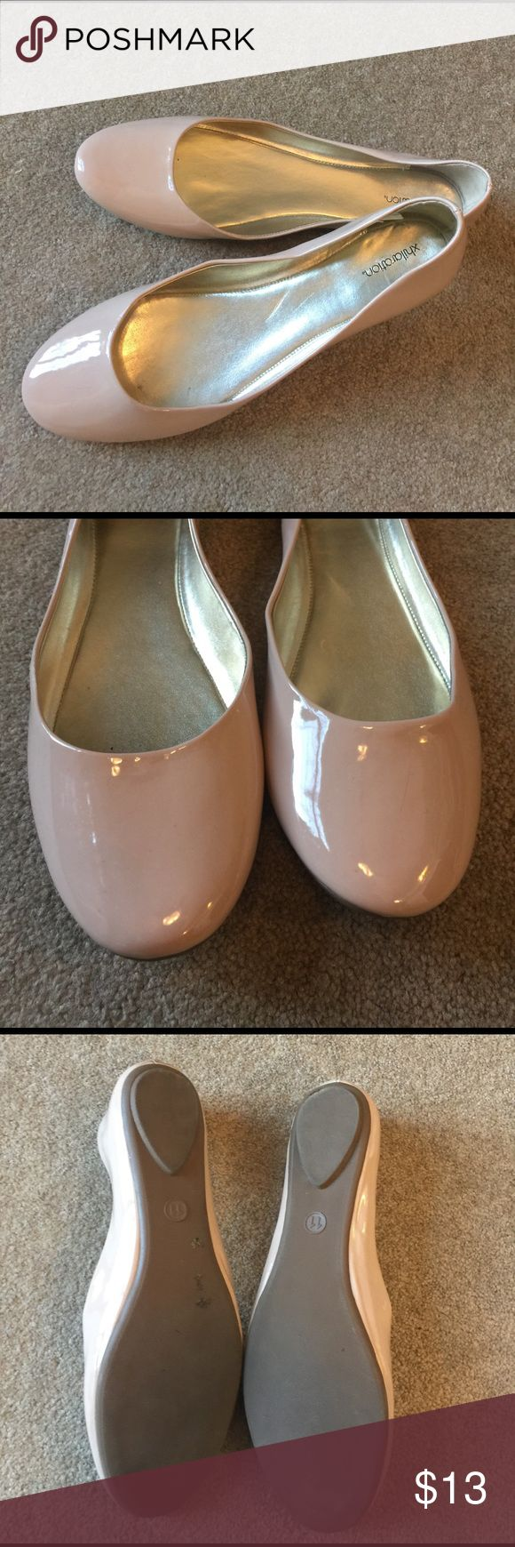 Cream ballet flats All man-made material. No scuffs or markings Xhilaration Shoes Flats & Loafers