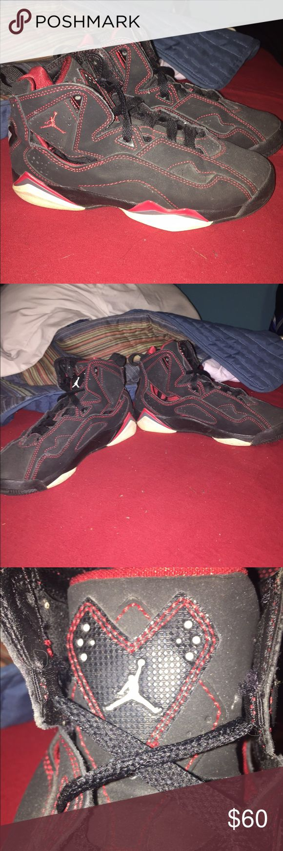 Jordan True Flight Used but in good condition. Signs of wear but no tears! Comfy and awesome shoes but must part ways. Youth size 4 Shoes Sneakers