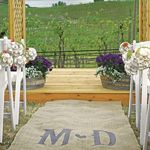 Wedding Favors & Party Supplies - Favors and Flowers :: Wedding Essentials :: Aisle Runners | Wedding Aisle Runners :: Personalized Burlap Aisle Runner with Vineyard Monogram