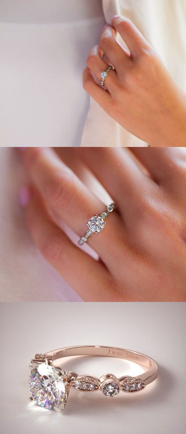 Awesome Unique Rose Gold Wedding Anniversary Engagement Rings
