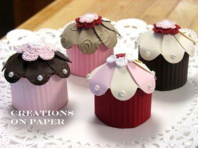 Creations on Paper: Cupcake Shape Box- Tutorial