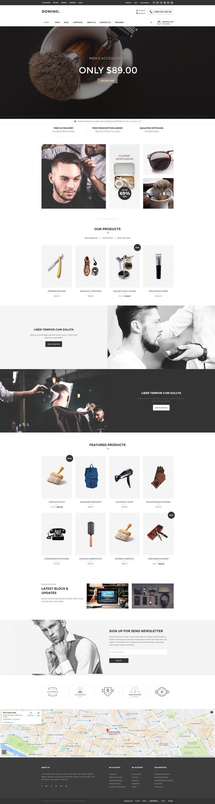 Domino - Fashion Responsive WordPress Theme #wordpress #fashion #mega template • Download ➝ https://themeforest.net/item/domino-fashion-responsive-wordpress-theme/17908571?ref=pxcr