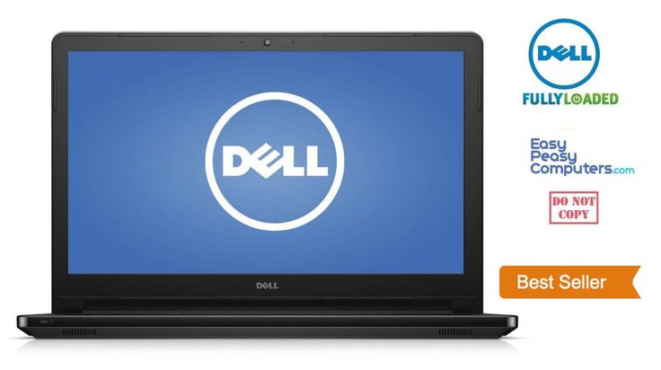 """Laptop Deals - NEW DELL Laptop Notebook 15.6"""" Windows 10 Webcam DVD+RW 500GB 4GB (FULLY LOADED) #Dell"""
