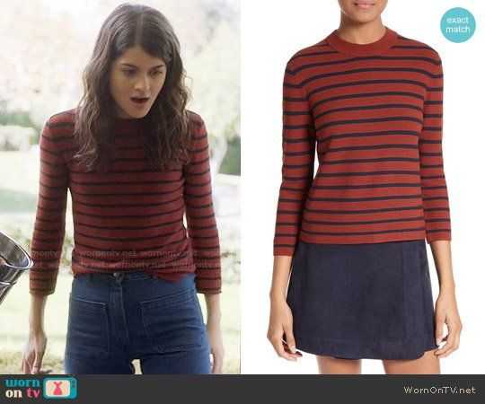 Theory Lemdora Prosecco Sweater worn by Sofia Black D'Elia on The Mick