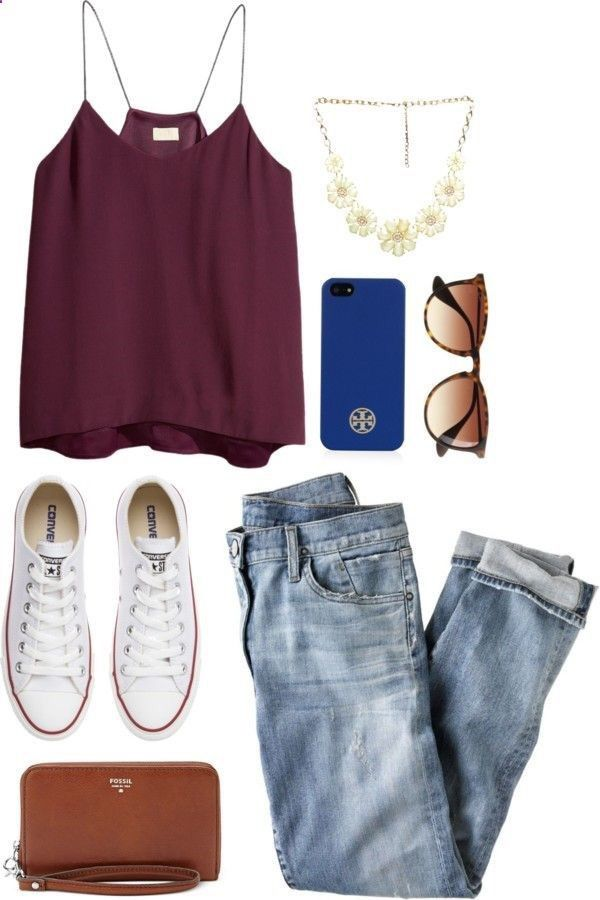 how to wear a tank top with jeans