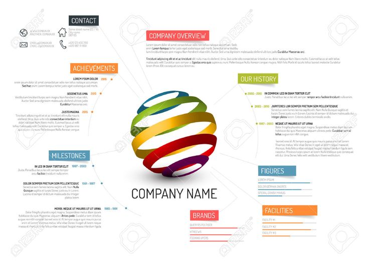 Vector Company Overview Design Template Royalty Free Cliparts, Vectors, And Stock Illustration. Image 41662738.