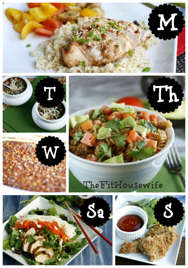 Free Weekly Meal Planner from The Fit Housewife #healthy #recipe #weightloss