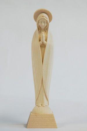 画像1: ご像 木彫り マリア像 白木 14cm