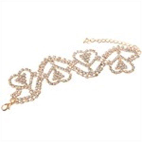 Fashionable Heart- Shaped Bangle Bracelet Fashion Jewelry w/ Imitated Rhinestones for ladies