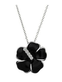 Flower Pattern Rhinestone Crystal Necklace For Women img