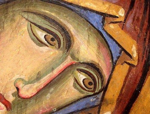 Богоматерь Агиосоритисса. Фреска церкви Панагии Аракиотиссы в селе Лагудера, Кипр. 1192 год.