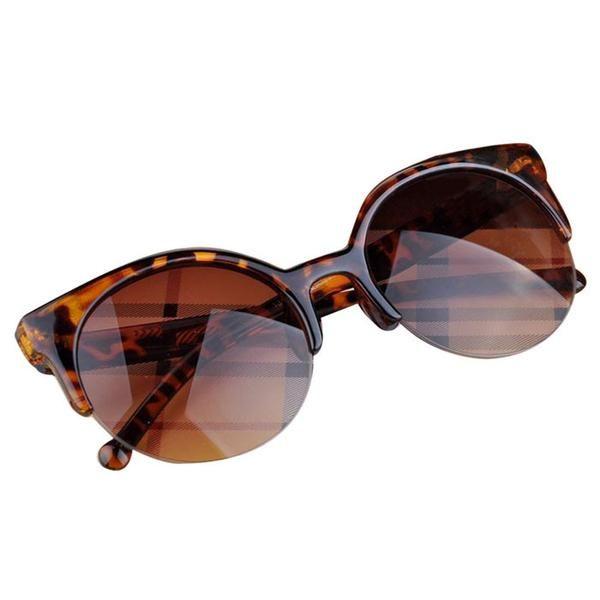 Half Frame Sunglasses Tortoise Shell Width: 63 mm