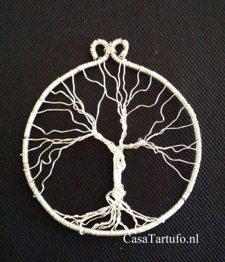 Wire Tree Pandant. 1.Silverwire 4,5 cm. Sold at CasaTartufo.nl. Made by Sabine…