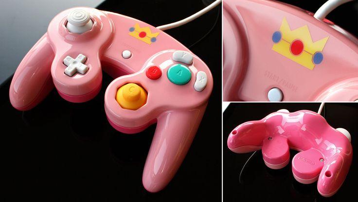 Custom Peach Gamecube controller by Zoki64 on deviantart.com @DeviantArt