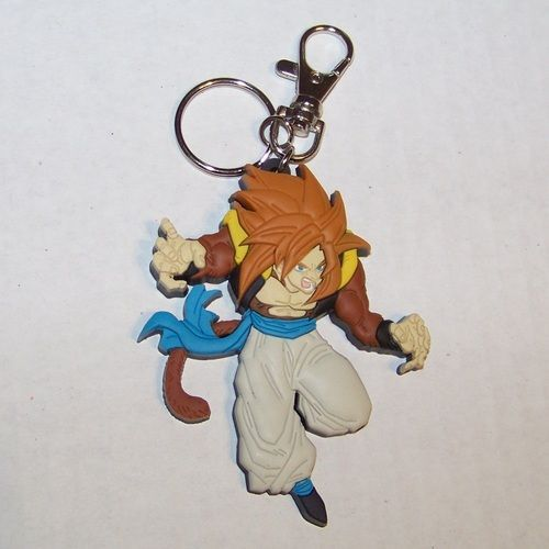 Dragonball Z GT keychain  Super Saiyan 4 Gogeta laseretched PVC approx. 2 inches tall Great Eastern Super Sayan Sayian