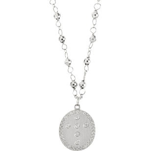 devon page mccleary rosary necklace with diamond cross