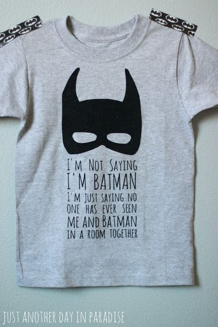 I'm not sayin' I'm Batman...