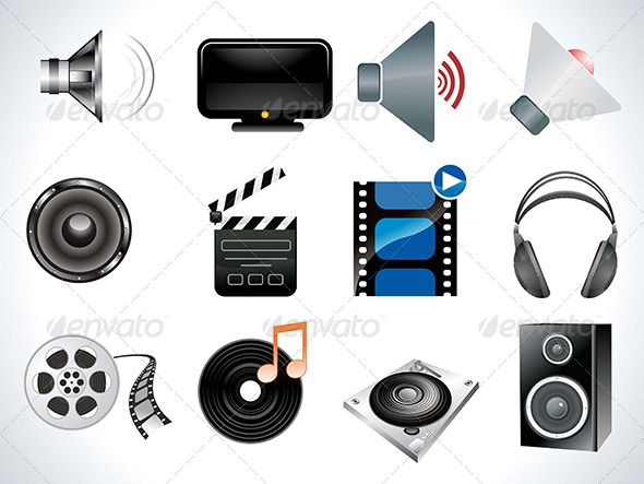 Abstract Multiple Multimedia Icon Set  #GraphicRiver         abstract multiple multimedia icon set vector illustration     Created: 20August13 GraphicsFilesIncluded: AIIllustrator Layered: Yes MinimumAdobeCSVersion: CS Tags: abstract #action #computer #filmrole #headphone #icon #illustration #monitor #multimedia #multiple #music #play #set #sound #vector #video