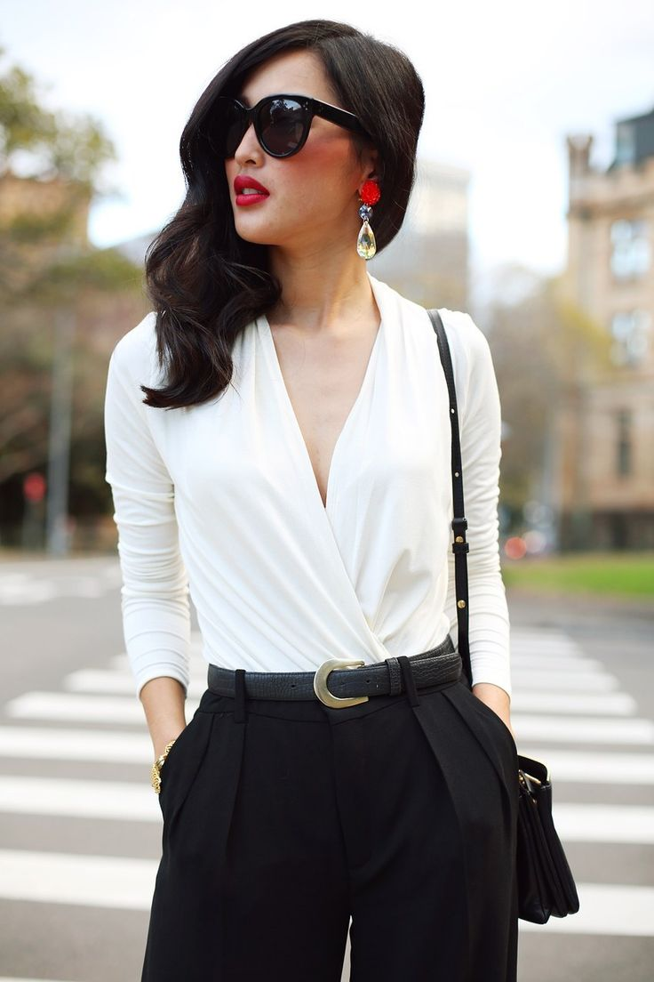 Boss lady - black and white fit!