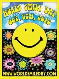 World Smile Day® 2012 is slowly approaching! Harvey Ball, a commercial artist from Worcester, Massachusetts created the smiley face in 1963. That image went on to become the most recognizable symbol of good will and good cheer on the planet.