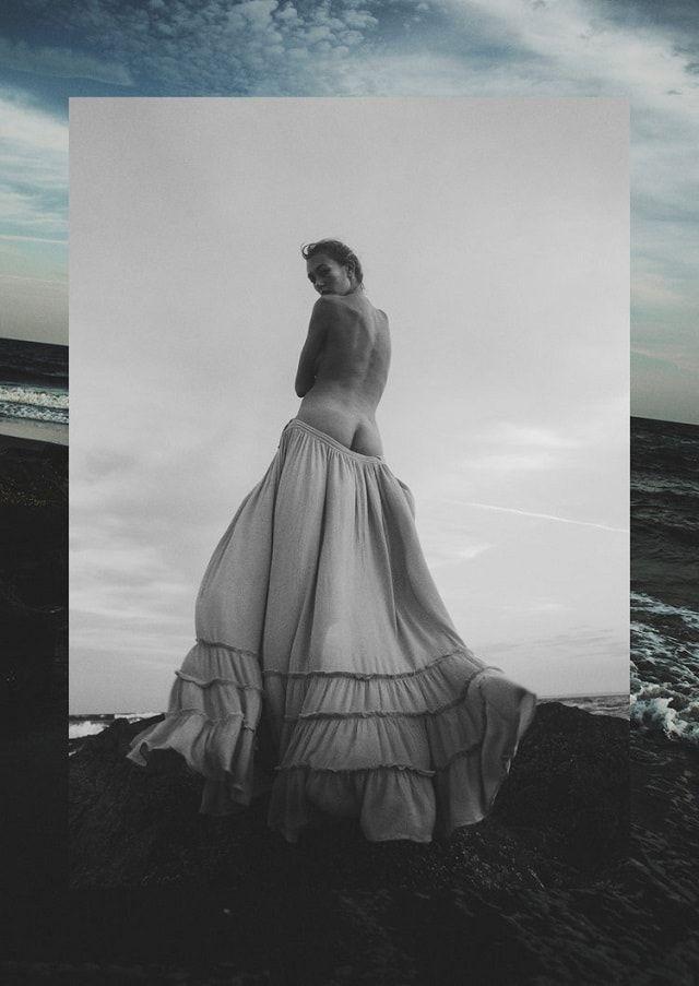 Amanda Rosborg at the Beach Model: Amanda Rosborg Photographer: Heather Hazzan Stylist: Calvy Click Makeup Artist: Laura Buck