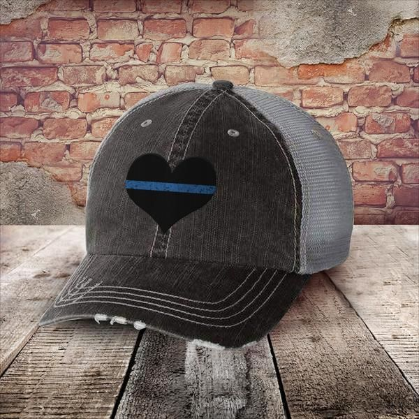 6e8d4e036c8dc Thin Blue Flag Heart Hat! Perfect for anyone backing their man woman in blue !