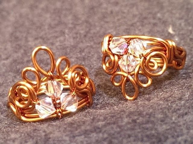 Handmade jewelry - Wire Jewelry Lessons - DIY - How to make crown ring